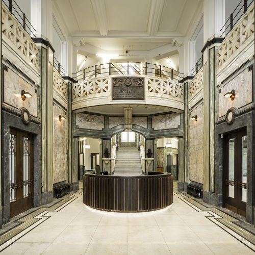 Reception area of the Russell Institute in Paisley