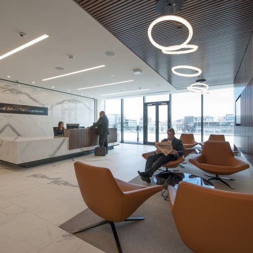 Reception area at the Bank of Montreal